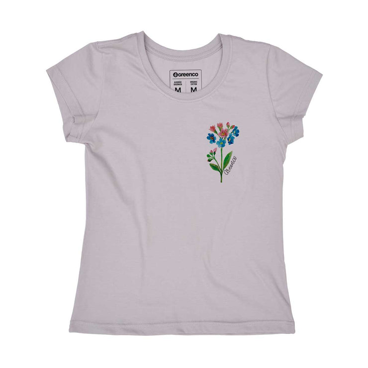 Organic Cotton Women's T-shirt - Watercolor Flower