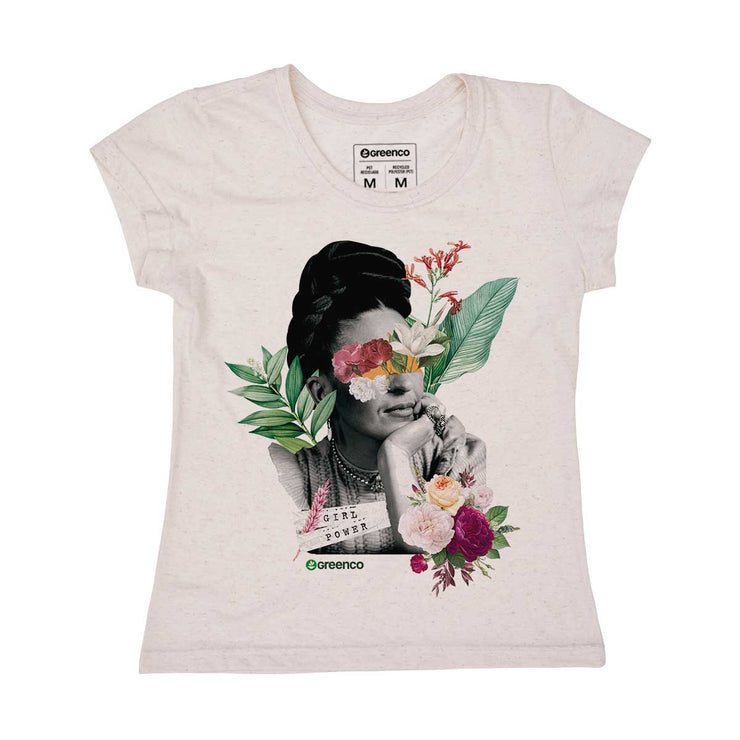 Recycled Polyester + Linen Women's T-shirt - Frida