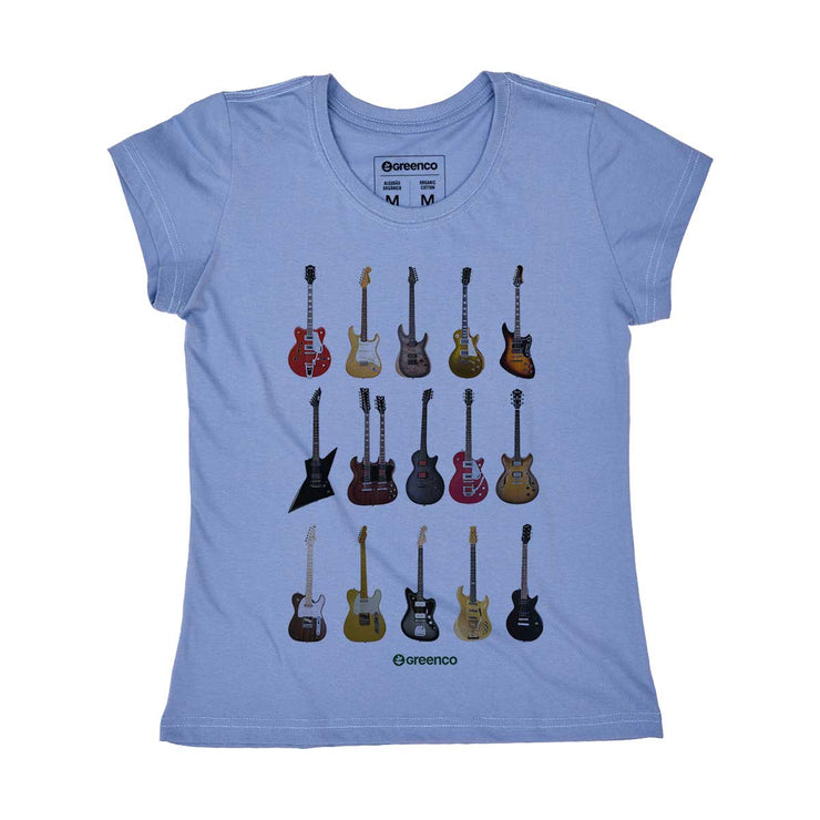 Organic Cotton Women's T-shirt - Guitar Types