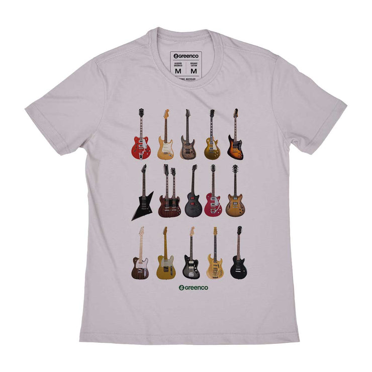 Organic Cotton Men's T-shirt - Guitar Types