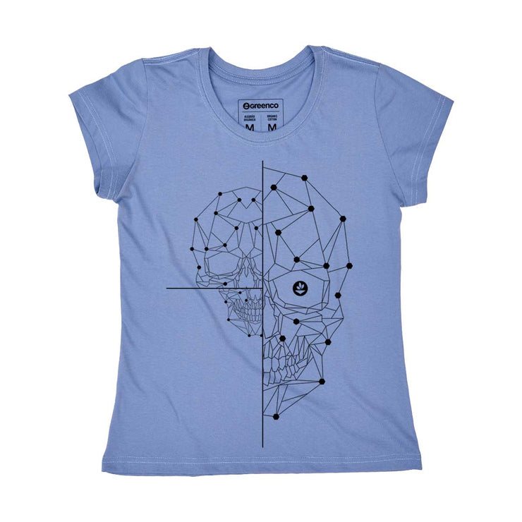Organic Cotton Women's T-shirt - Half Skull