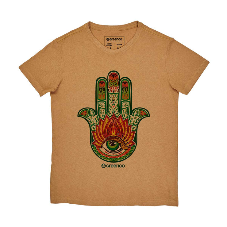 Recotton Men's T-shirt - Hamsa Color
