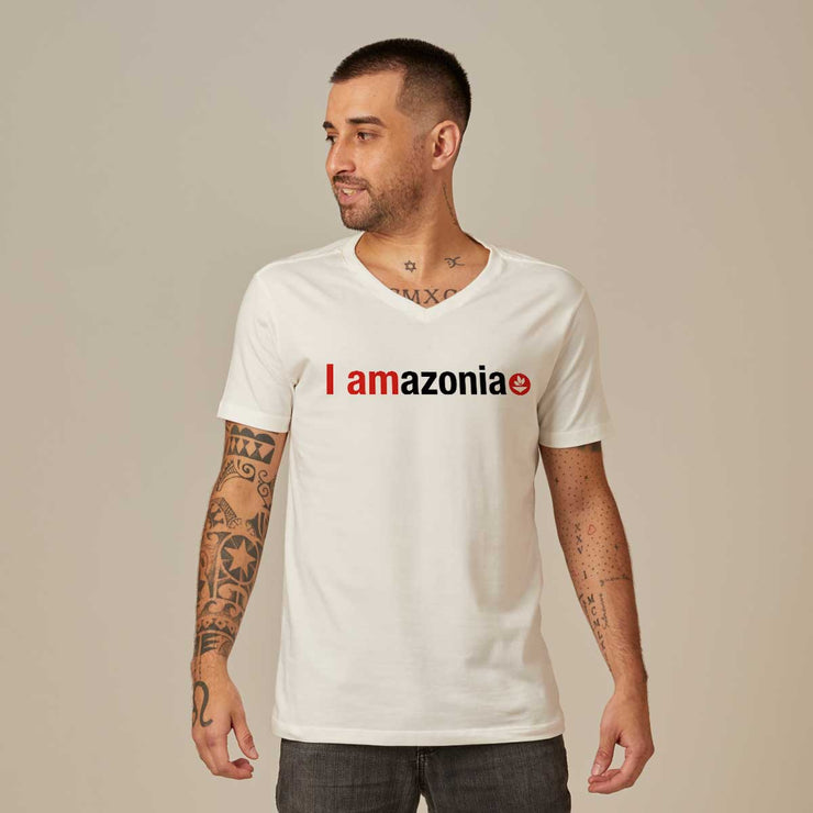 Comfort Cotton Men's V-neck T-shirt - I Amazonia