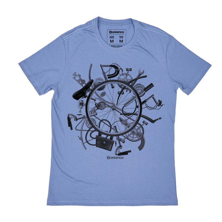 Organic Cotton Men's T-shirt - I Love Bike