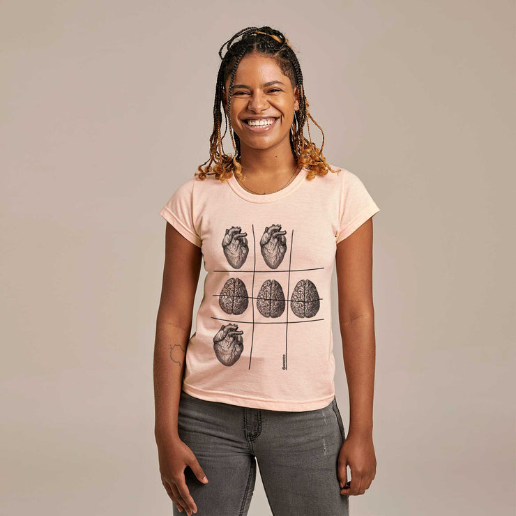 Recycled Polyester + Linen Women's T-shirt - Reason Tic-Tac-Toe