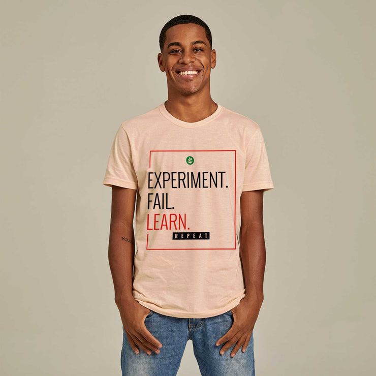Recycled Polyester + Linen Men's T-shirt - Learn