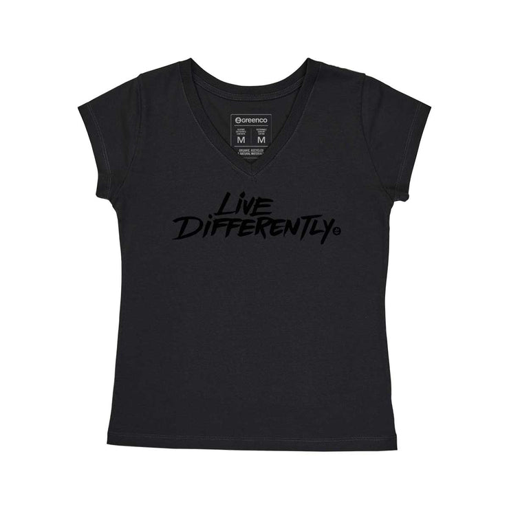 Comfort Cotton Women's V-neck T-shirt - Live Differently