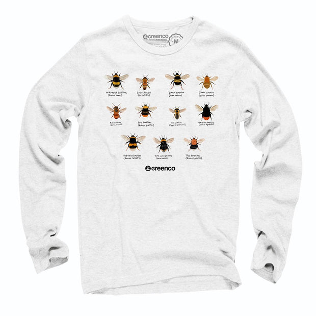 Sustainable Cotton Long Sleeve T-Shirt - Bees