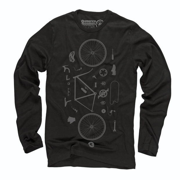 Sustainable Cotton Long Sleeve T-Shirt - Desconstrubike