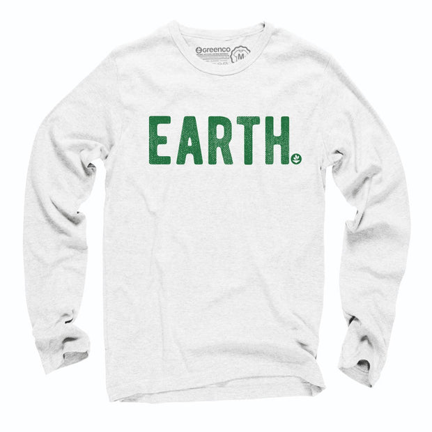 Sustainable Cotton Long Sleeve T-Shirt - Earth