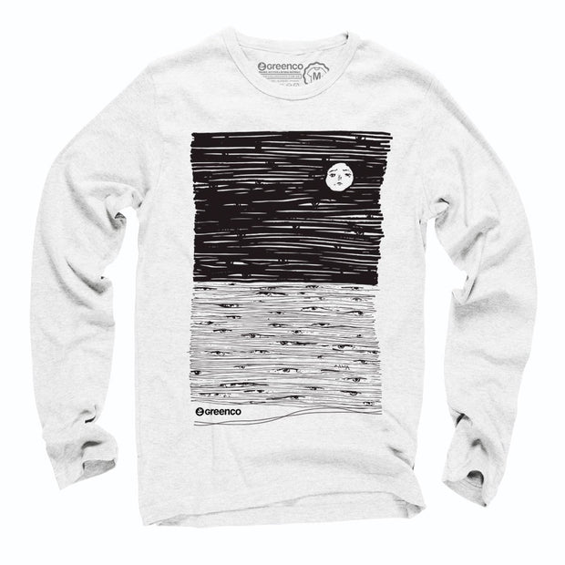 Sustainable Cotton Long Sleeve T-Shirt - Moon Eyes