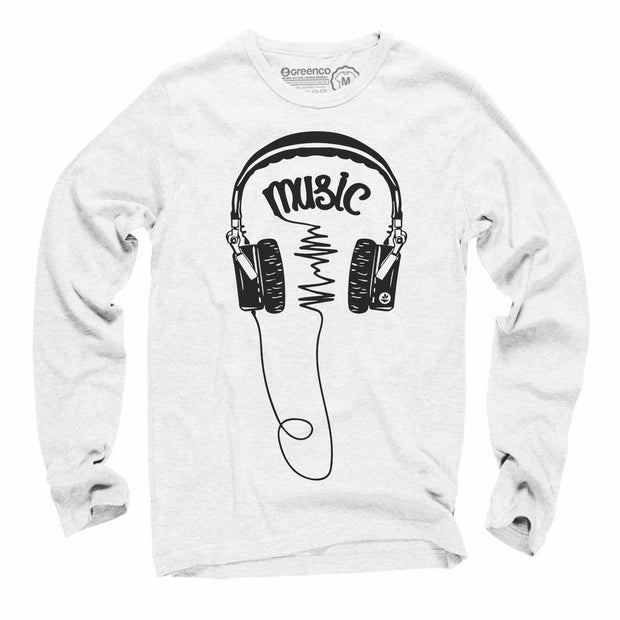 Sustainable Cotton Long Sleeve T-Shirt - Music