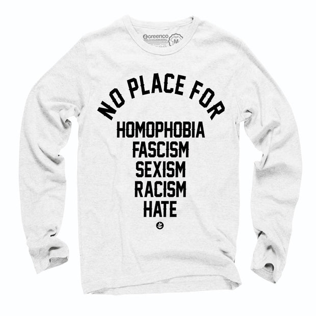 Sustainable Cotton Long Sleeve T-Shirt - No Place