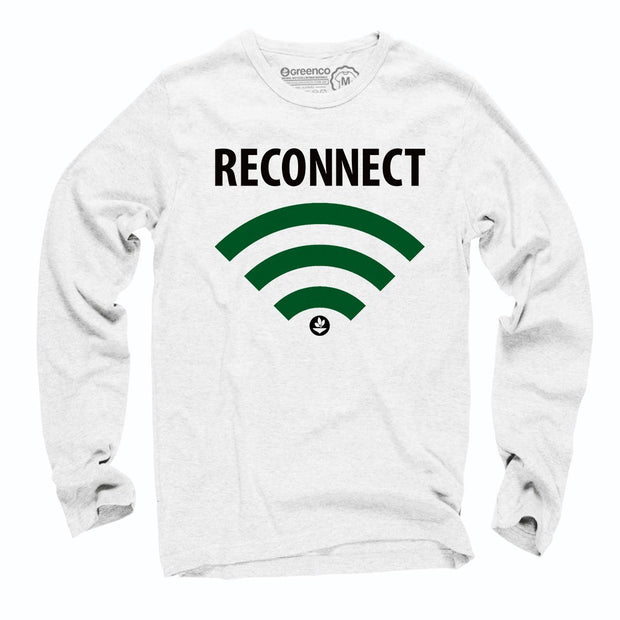 Sustainable Cotton Long Sleeve T-Shirt - Reconnect