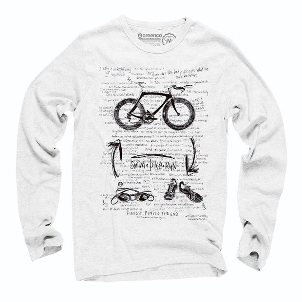 Sustainable Cotton Long Sleeve T-Shirt - Triathlon
