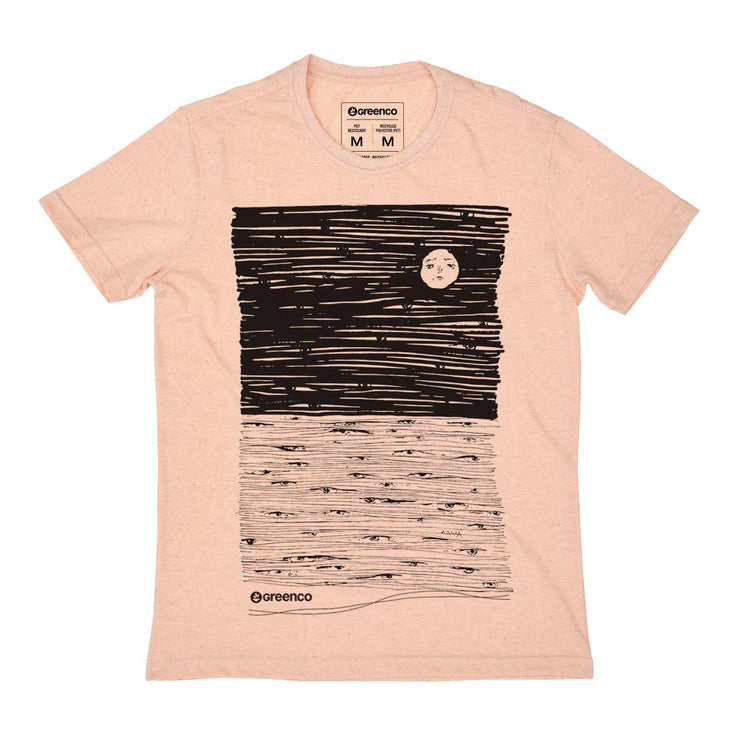 Recycled Polyester + Linen Men's T-shirt - Moon Eyes