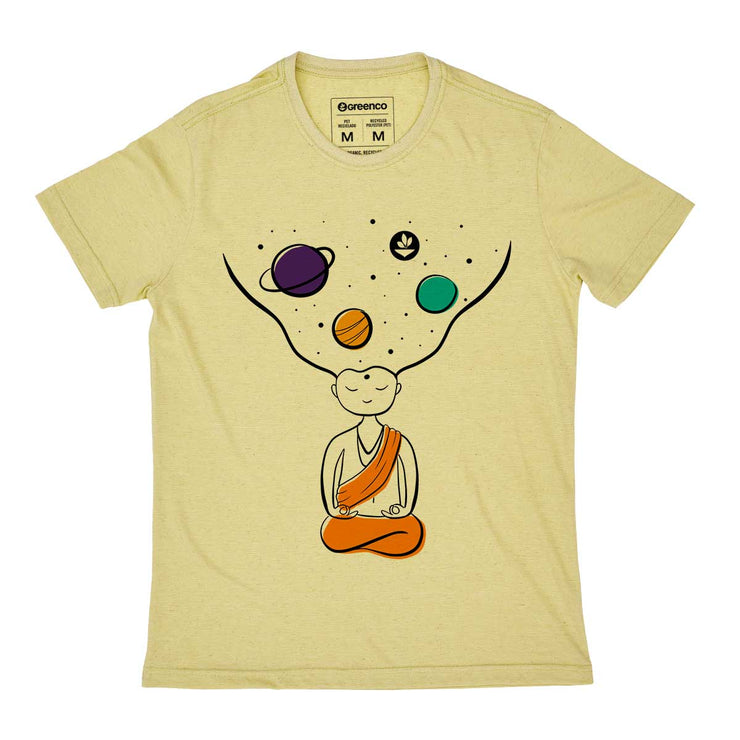 Recycled Polyester + Linen Men's T-shirt - Quiet Please