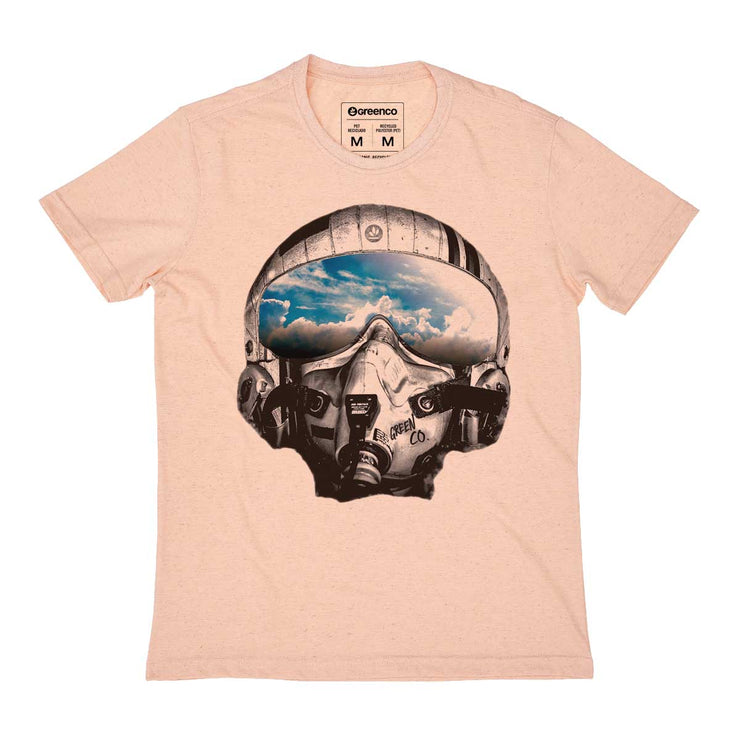Recycled Polyester + Linen Men's T-shirt - Pilot