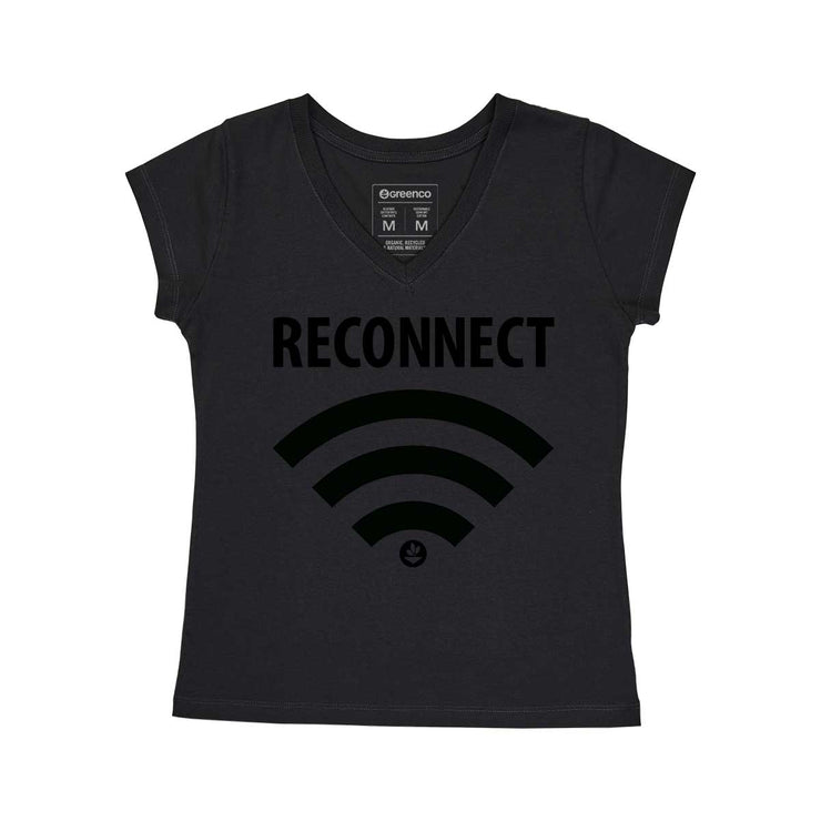 Comfort Cotton Women's V-neck T-shirt - Reconnect