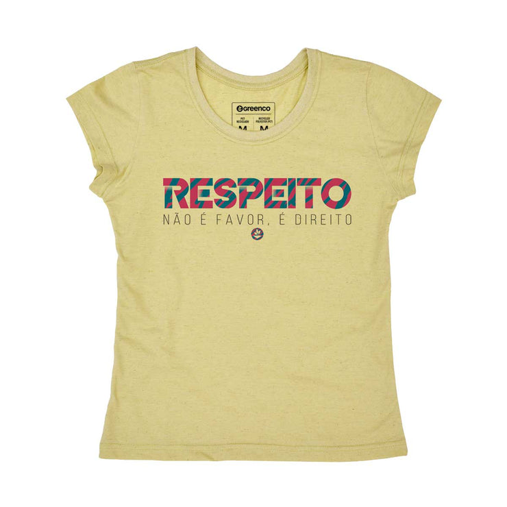 Recycled Polyester + Linen Women's T-shirt - Respeito