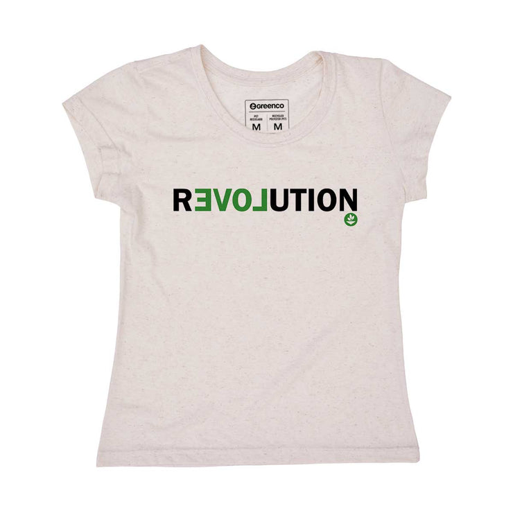 Recycled Polyester + Linen Women's T-shirt - Revolution