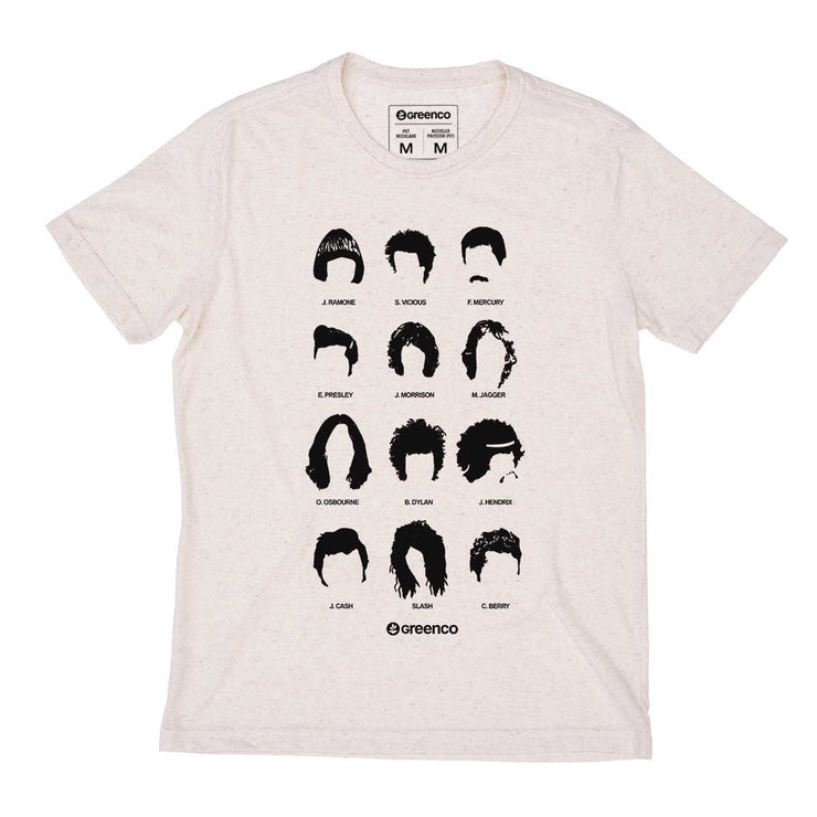 Recycled Polyester + Linen Men's T-shirt - Rockstar Haircuts