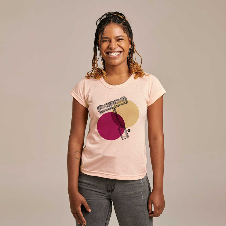 Recycled Polyester + Linen Women's T-shirt - Corkscrew