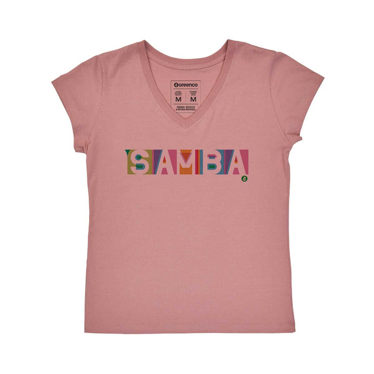 Comfort Cotton Women's V-neck T-shirt - Samba