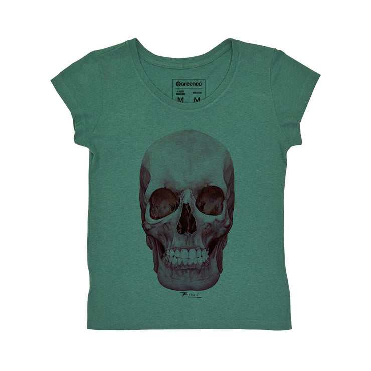 Recotton Women's T-shirt - Skull Pink - RK