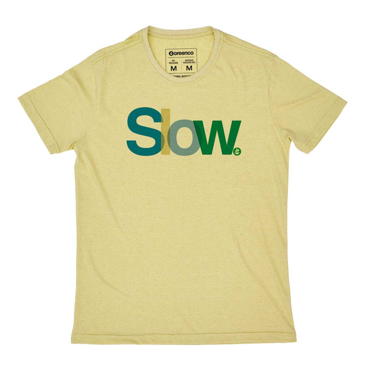 Recycled Polyester + Linen Men's T-shirt - Slow