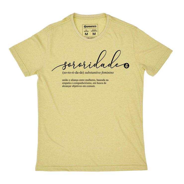 Recycled Polyester + Linen Men's T-shirt - Sororidade
