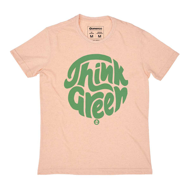 Recycled Polyester + Linen Men's T-shirt - Think Green