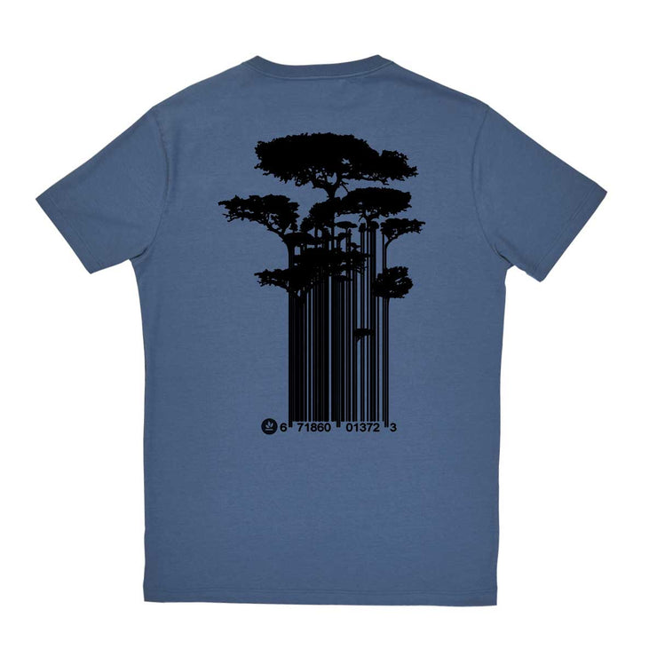 Comfort Cotton Men's V-neck T-shirt - Tree Code