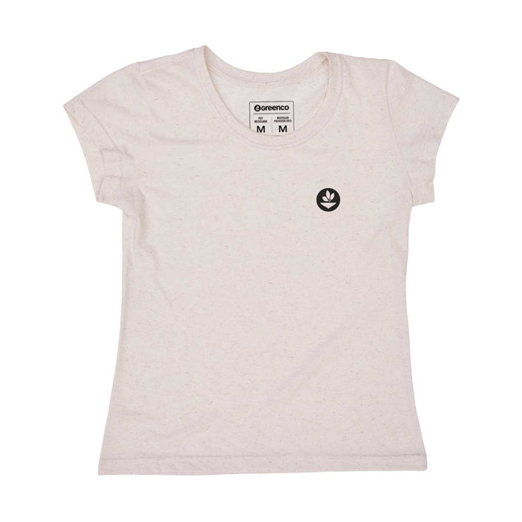 Recycled Polyester + Linen Women's T-shirt - Tree Code