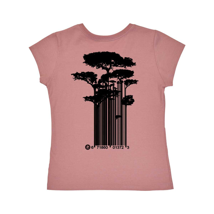 Comfort Cotton Women's V-neck T-shirt - Tree Code