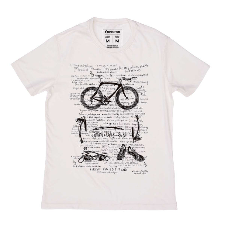 Organic Cotton Men's T-shirt - Triathlon