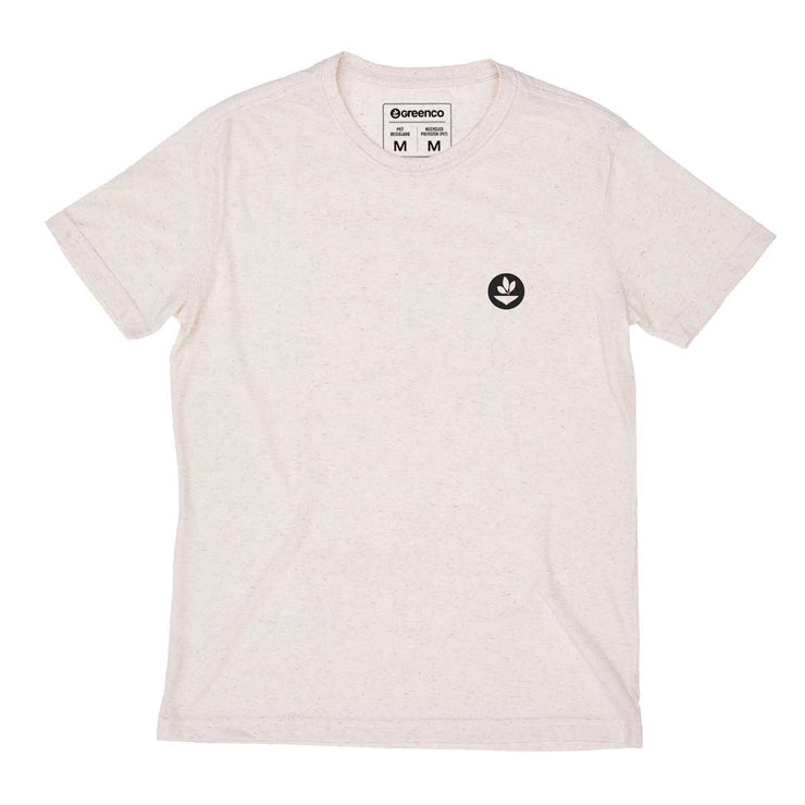 Recycled Polyester + Linen Men's T-shirt - Unalome