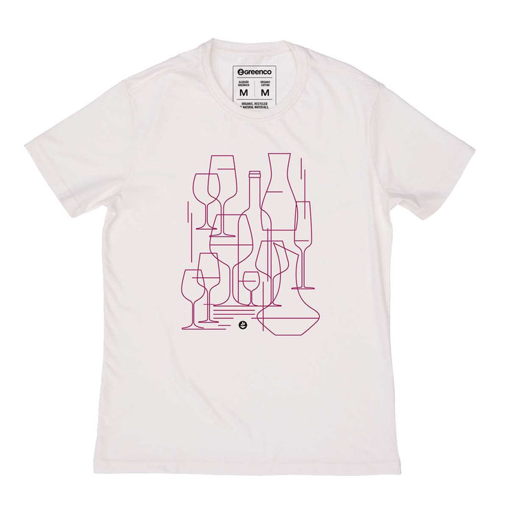 ganic Cotton Men's T-shirt - Graphic Wine