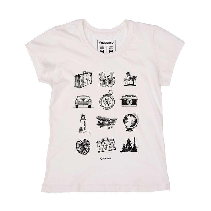 Organic Cotton Women's T-shirt - Vintage Traveller