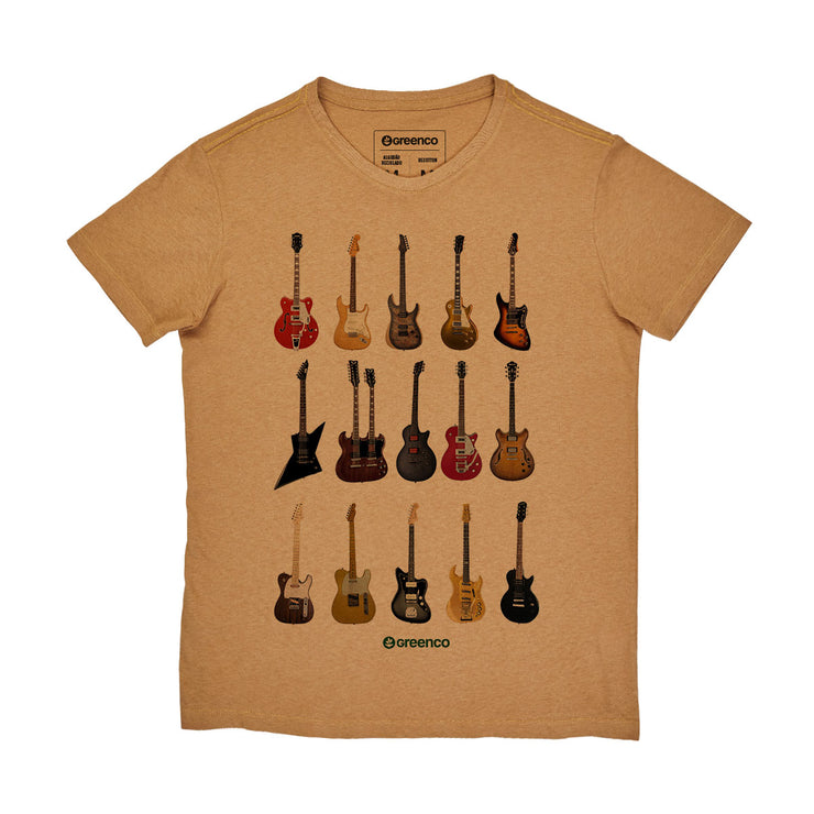 Recotton Men's T-shirt - Guitar Types