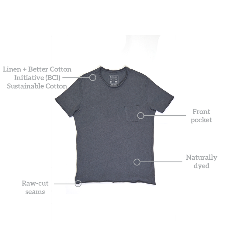 Linen Men's T-shirt - Graphite