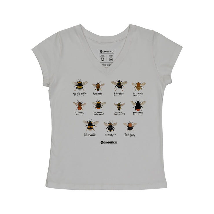 Comfort Cotton Women's V-neck T-shirt - Bees