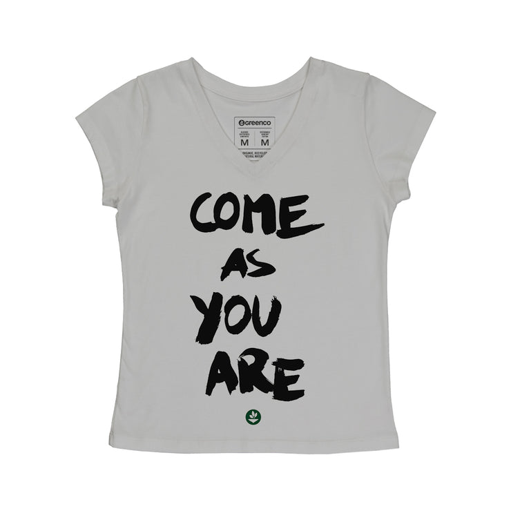 Comfort Cotton Women's V-neck T-shirt - Come as you are