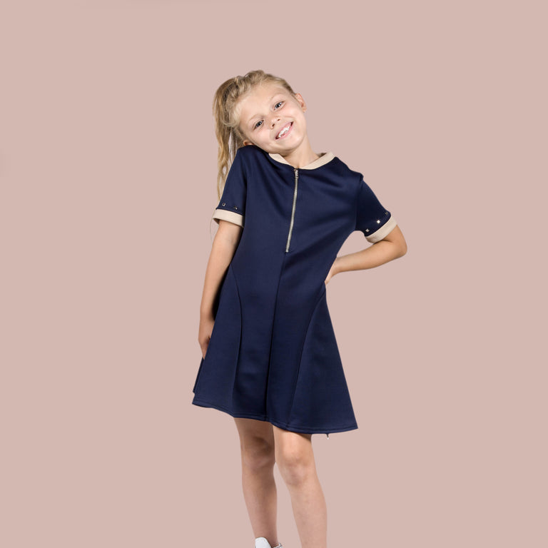Pebble Dress Navy