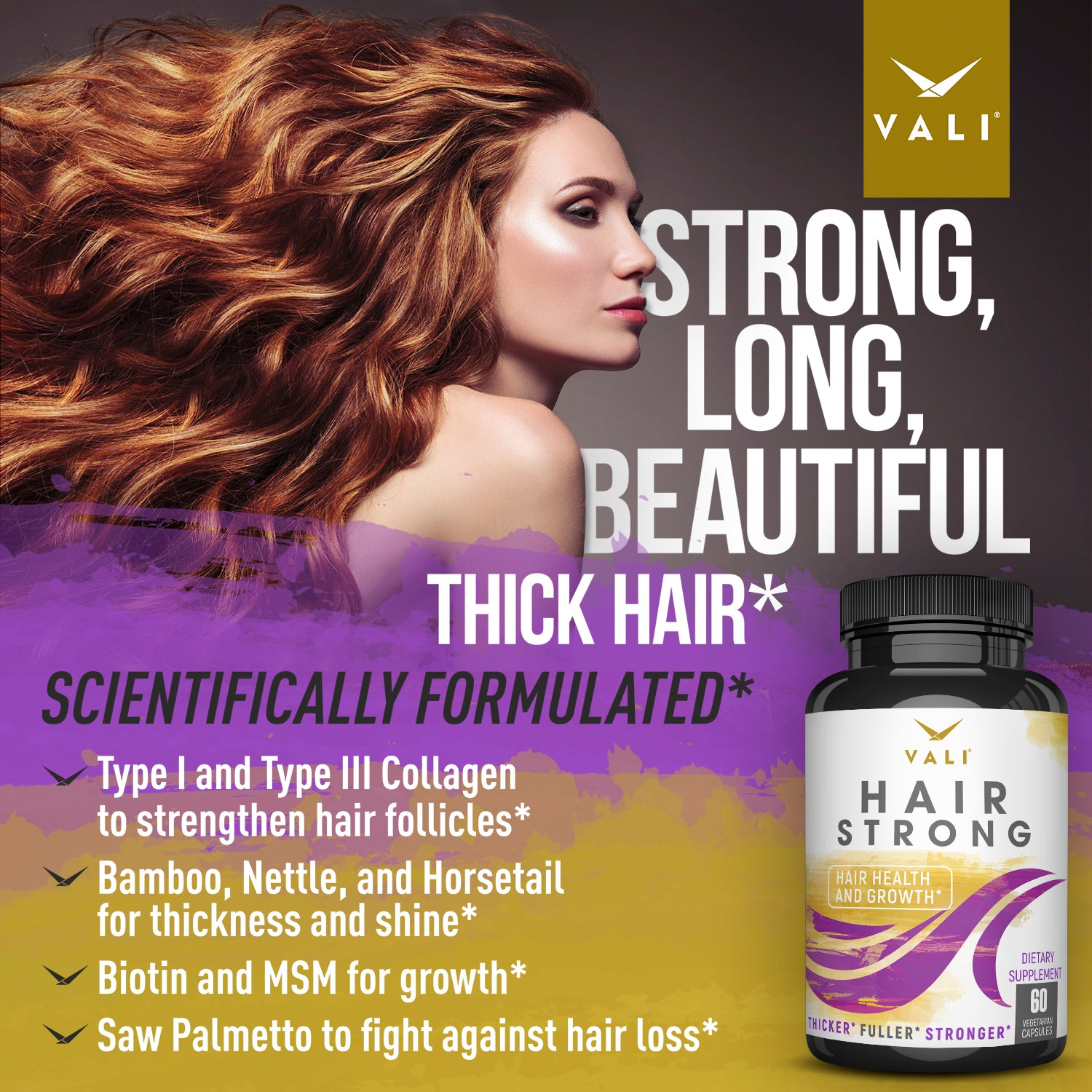 Vali Hair Strong Hair Health And Growth Vitamins