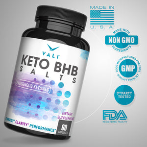 VALI Keto BHB Salts - Beta Hydroxybutyrate + L-Leucine Ketone Supplement