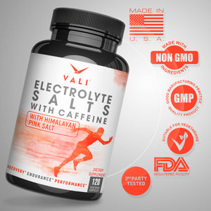 VALI Electrolyte Salts + Caffeine - Hydration Energy Support