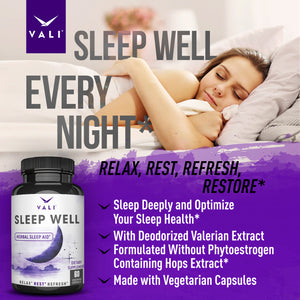 VALI Sleep Well - Natural Sleep Aid