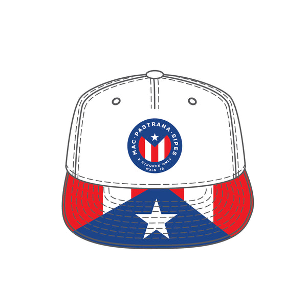 Mac/Pastrana/Sipes - Puerto Rico Flag Hat