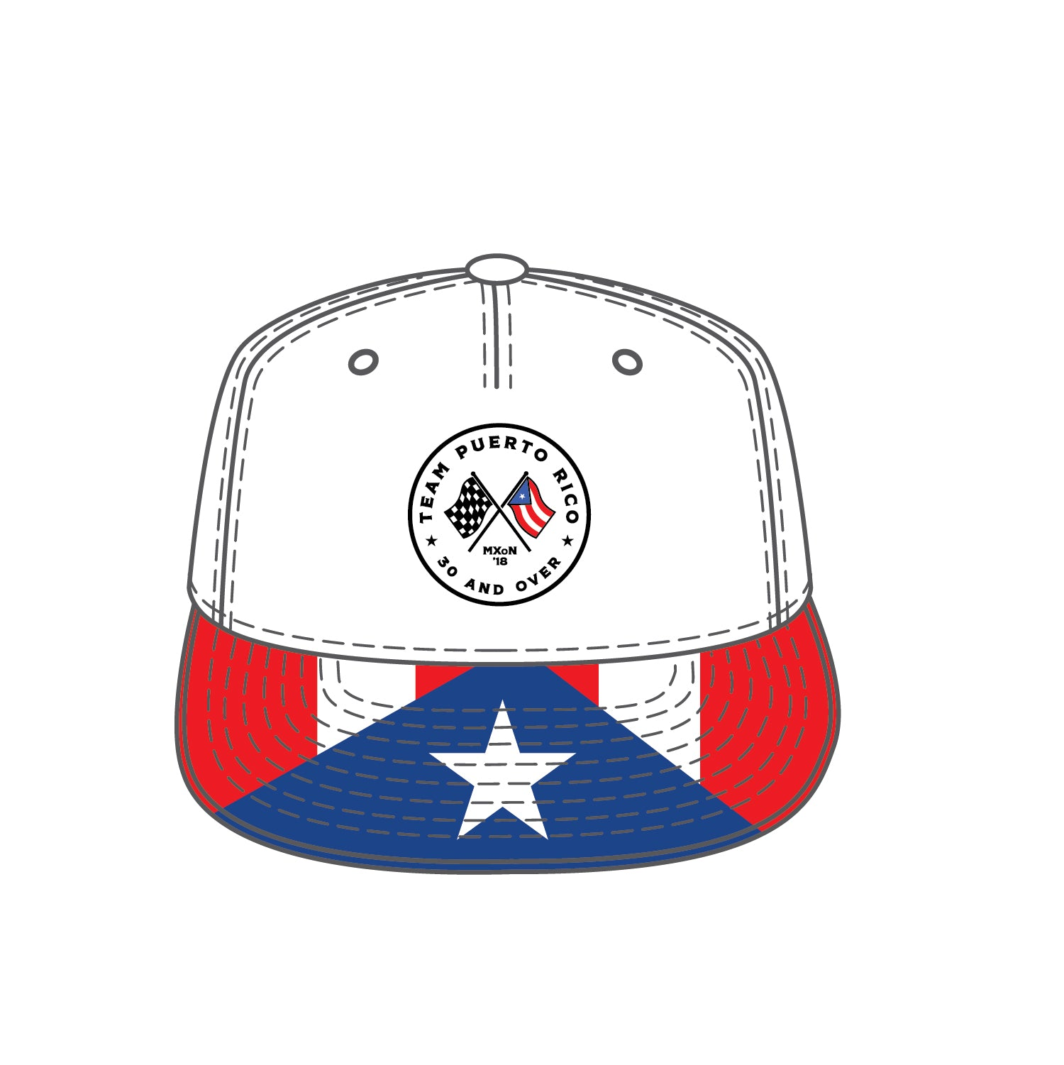 Team Puerto Rico Flag Hat